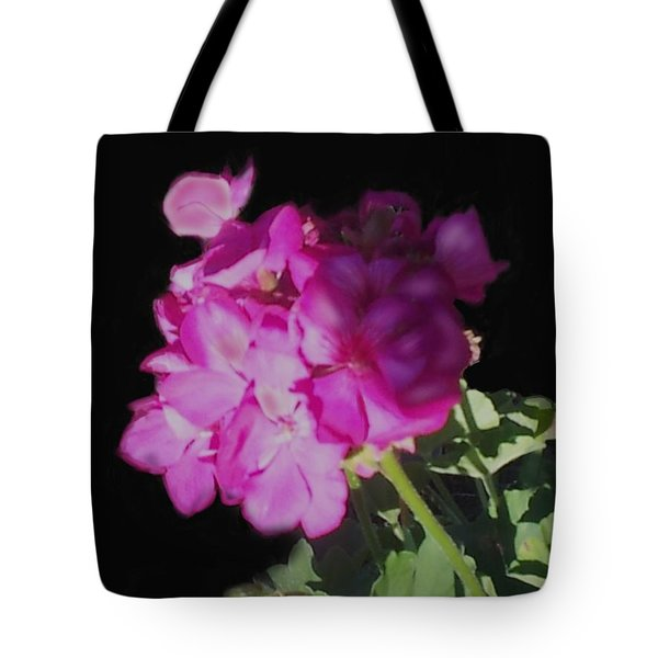 Sun Kissed Geranium  Tote Bag by Christine Fournier