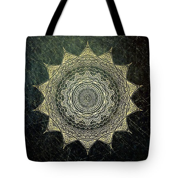 Sun Mandala - Background Variation Tote Bag