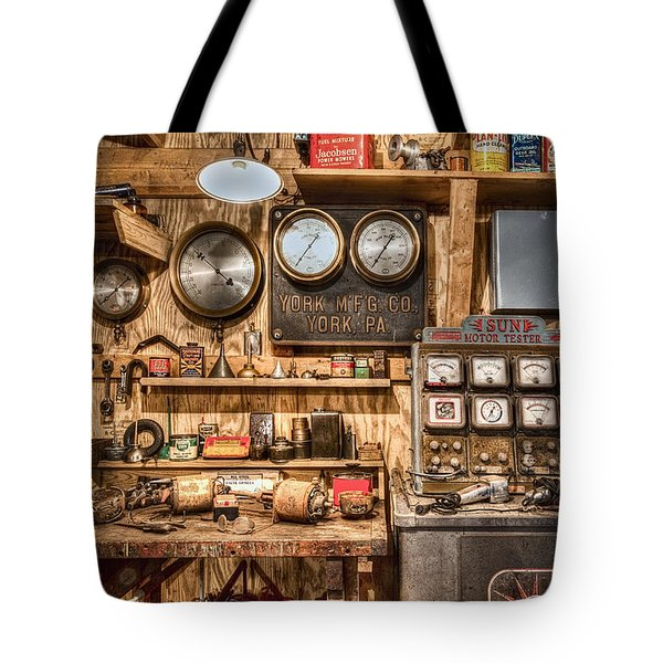 Sun Motor Tester Tote Bag by Debra and Dave Vanderlaan