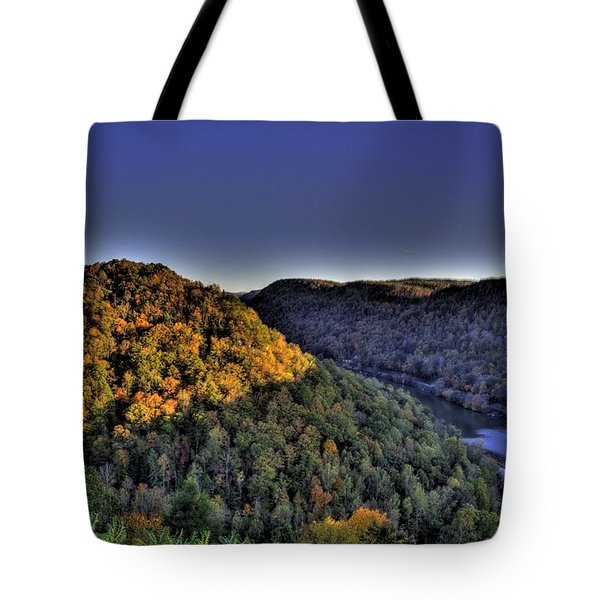 Sun On The Hills Tote Bag by Jonny D