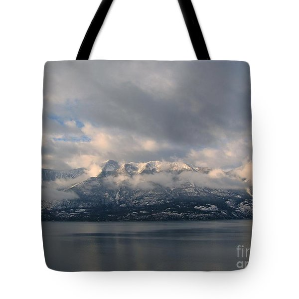 Sun On The Mountains Tote Bag
