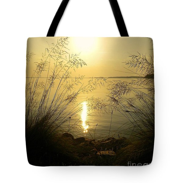 Sun Over Lake Murray Tote Bag