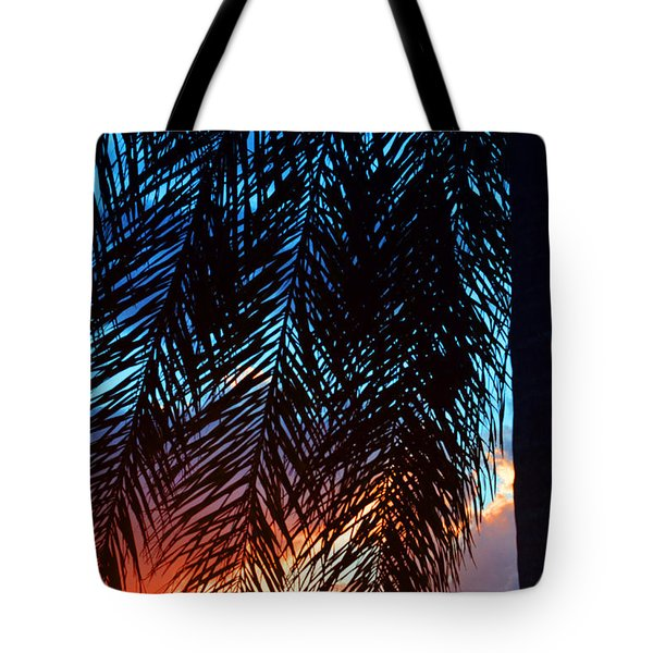 Sun Palm Tote Bag