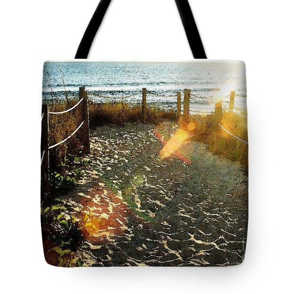 Sun Ray Beach Path Tote Bag
