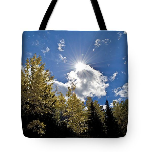 Sun Rays Across Colorado Mountain Tote Bag