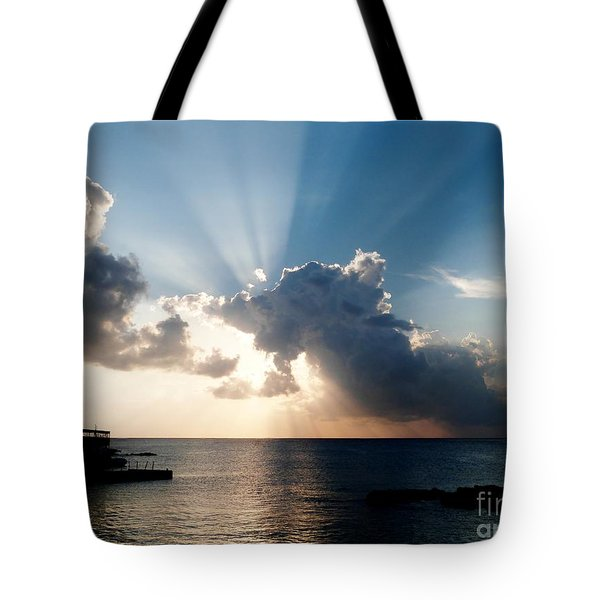 Sun Rays Tote Bag by Amar Sheow