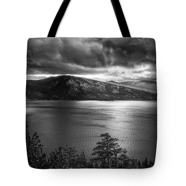 Sun Rays At Sunrise Tote Bag by Marc Crumpler