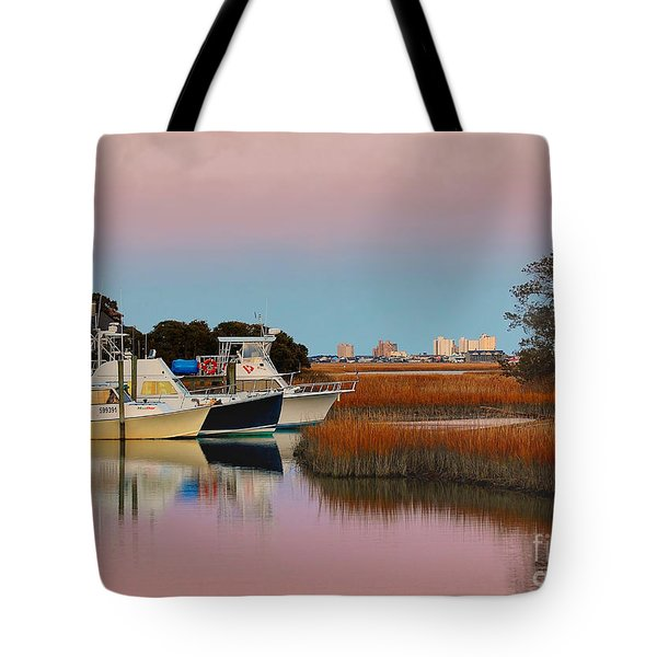 Sun Setting At Murrells Inlet Tote Bag