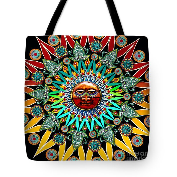 Tote Bag featuring the digital art Sun Shaman by Christopher Beikmann