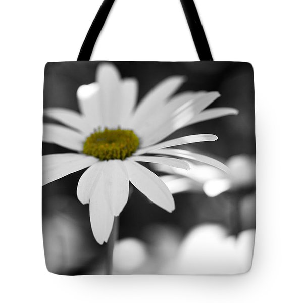 Sun-speckled Daisy Tote Bag by Don Schwartz