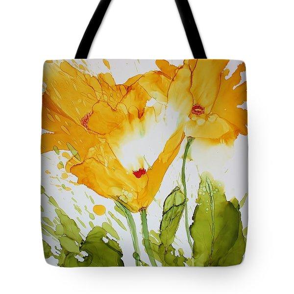 Sun Splashed Poppies Tote Bag