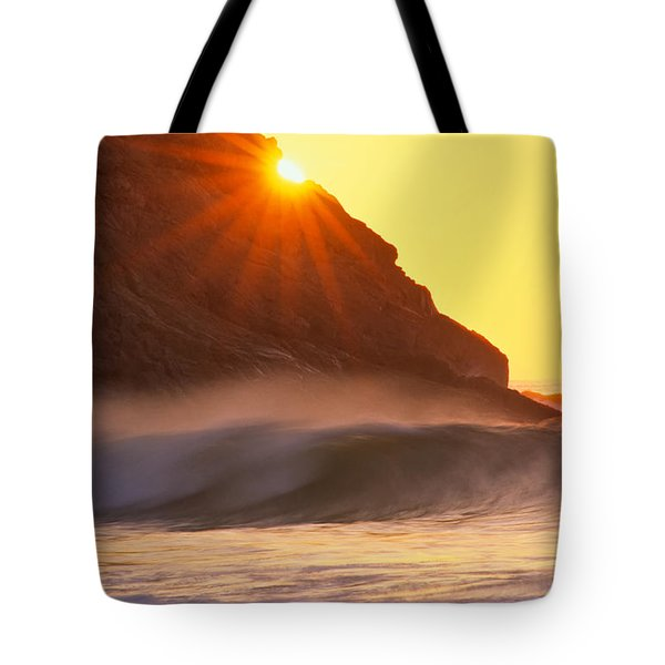 Tote Bag featuring the photograph Sun Star Singing Beach by Michael Hubley
