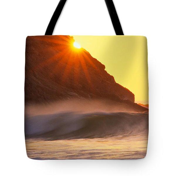 Sun Star Singing Beach Tote Bag