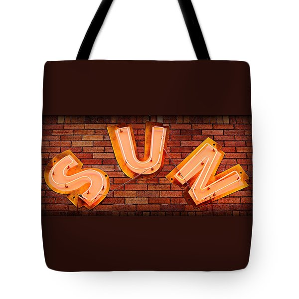 Sun Studio Neon Tote Bag by Stephen Stookey
