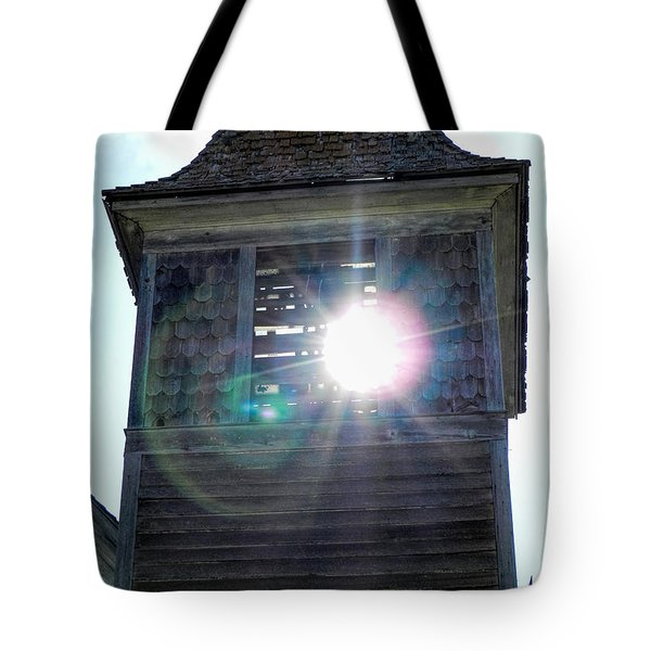 Sun Through The Steeple-by Cathy Anderson Tote Bag