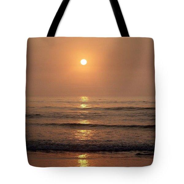 Sun Up Along Hampton Beach Tote Bag by Eunice Miller