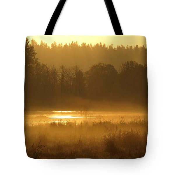 Sun Up At The Refuge Tote Bag