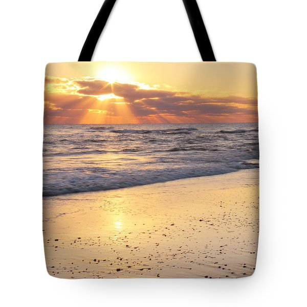 Sunbeams On The Beach Tote Bag