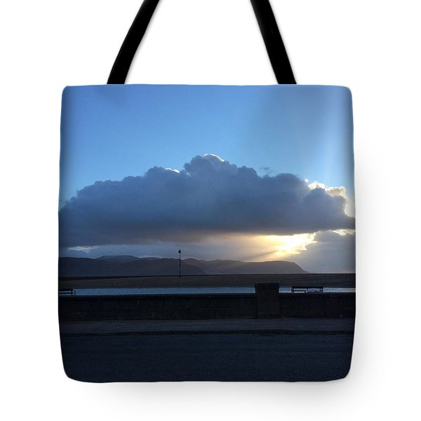 Tote Bag featuring the photograph Sunbeams Over Conwy by Christopher Rowlands