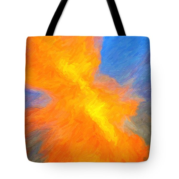 Sunburst Abstract Tote Bag by Clare VanderVeen