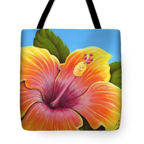 Sunburst Hibiscus Tote Bag by Adam Johnson