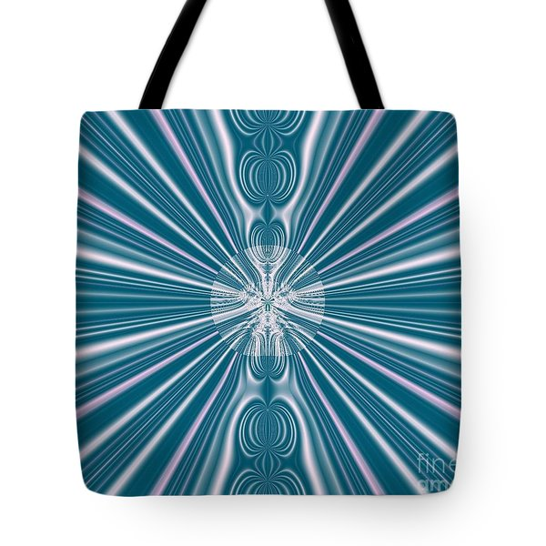 Tote Bag featuring the digital art Sunburst In The Rain by Luther Fine Art