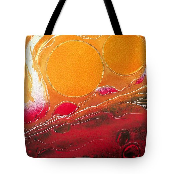Tote Bag featuring the painting Sunburst by Jason Girard