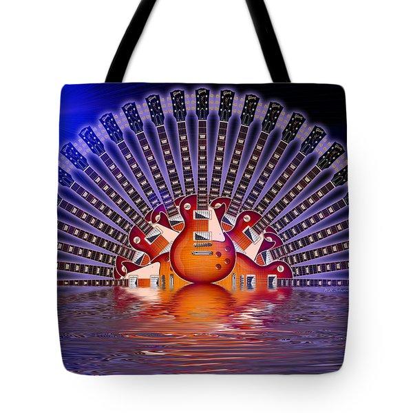 Tote Bag featuring the digital art Sunburst Moonrise by WB Johnston