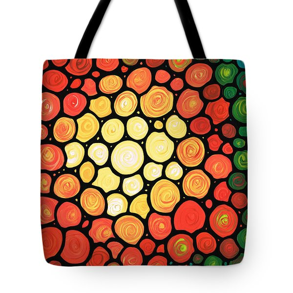Sunburst Tote Bag by Sharon Cummings