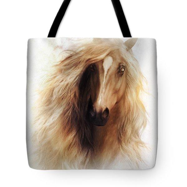 Sundance Horse Portrait Tote Bag