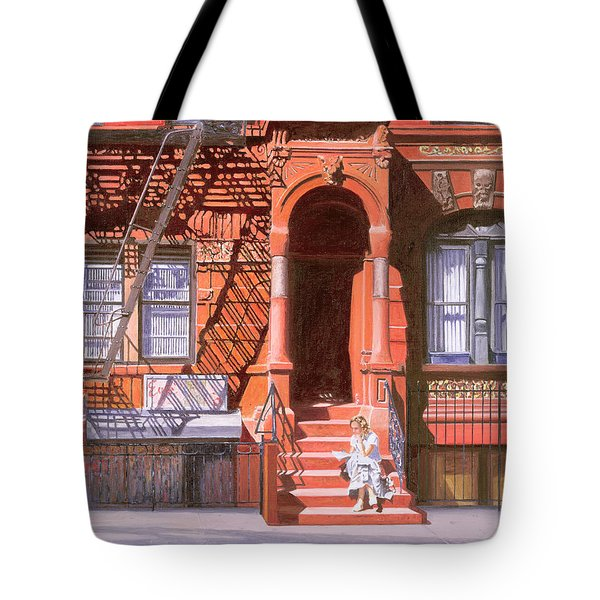 Sunday Afternoon East 7th Street Lower East Side Nyc Tote Bag by Anthony Butera