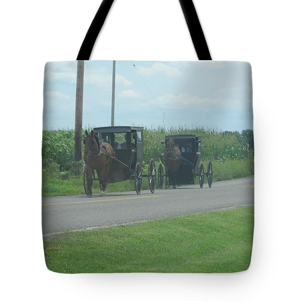 Tote Bag featuring the photograph Sunday Afternoon Ride by Tina M Wenger