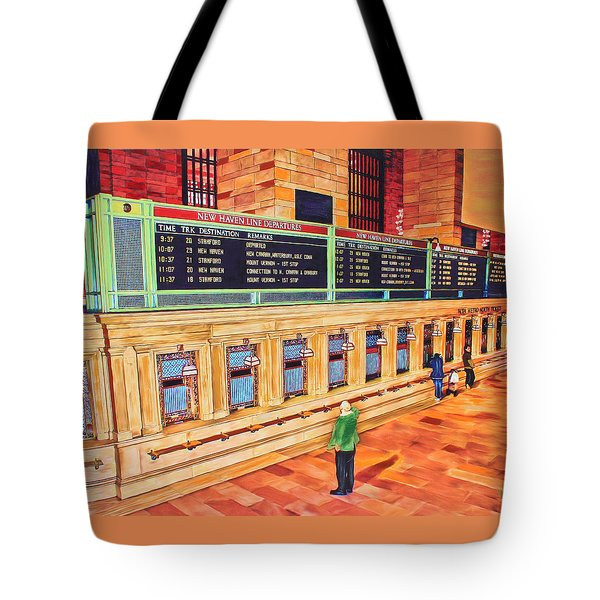 Sunday Am At Grand Central Tote Bag