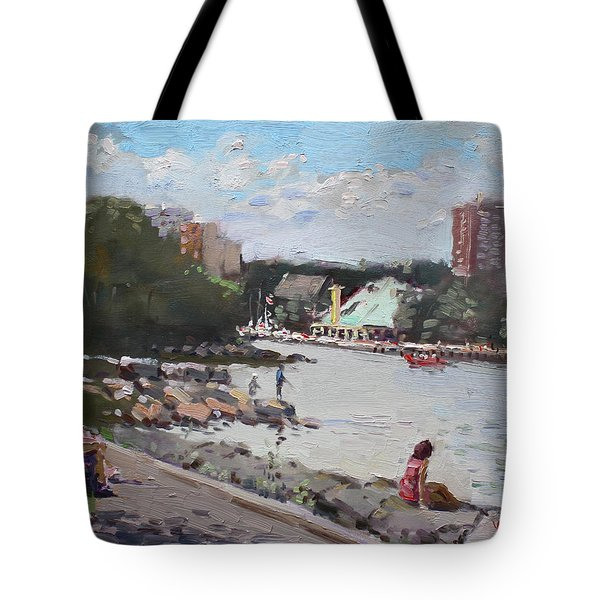Sunday At Port Credit Park Mississauga Tote Bag