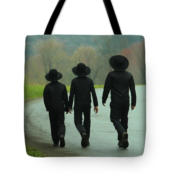 Sunday Go To Meetin' Tote Bag by Skip Tribby