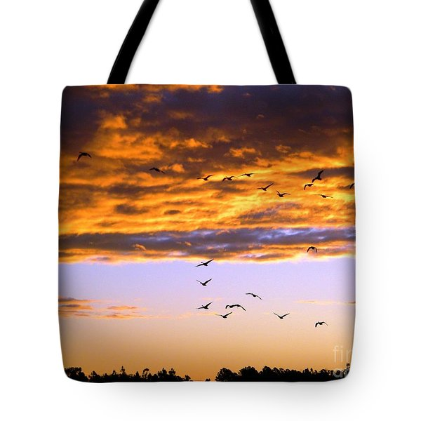 Gods Outdoor Church Sunday Tote Bag