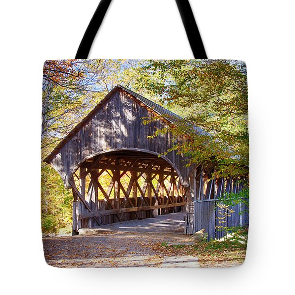 Sunday River Covered Bridge Tote Bag