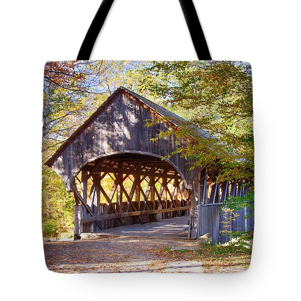 Sunday River Covered Bridge Tote Bag