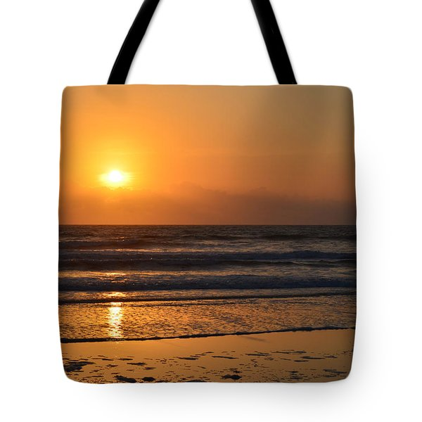 Tote Bag featuring the photograph Sundays Golden Sunrise by DigiArt Diaries by Vicky B Fuller
