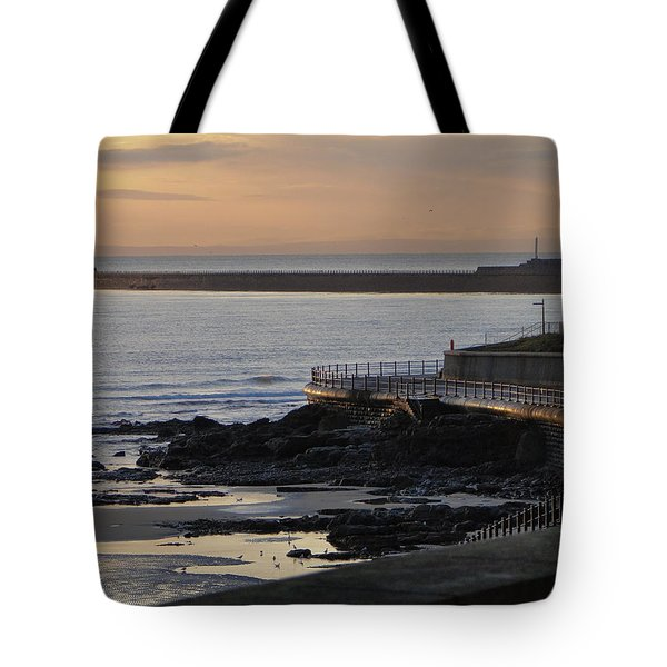 Sunderland Sunrise Tote Bag by Julia Wilcox