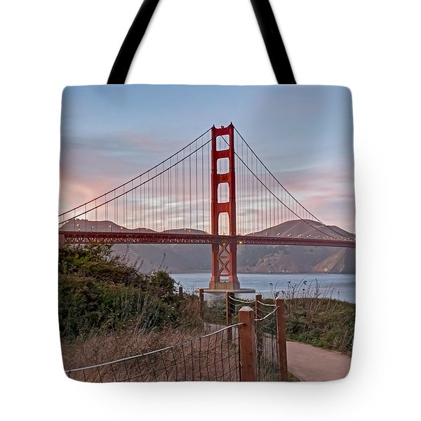 Tote Bag featuring the photograph Sundown Bridge by Kate Brown