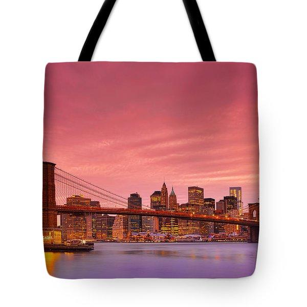 Sundown City Tote Bag by Midori Chan