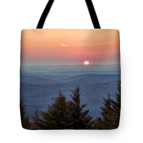 Sundown From Spruce Knob Tote Bag