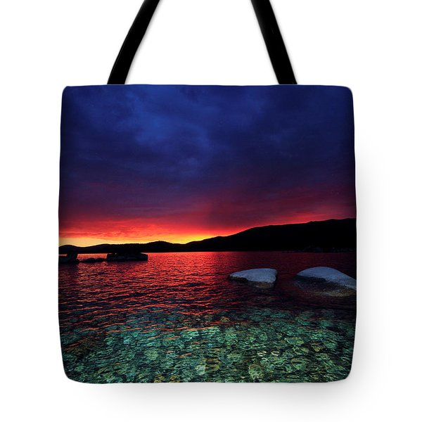 Sundown In Lake Tahoe Tote Bag