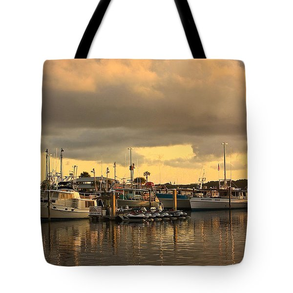 Sundown In The Bay... Tote Bag