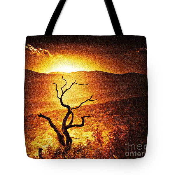 Sundown In The Mountains Tote Bag