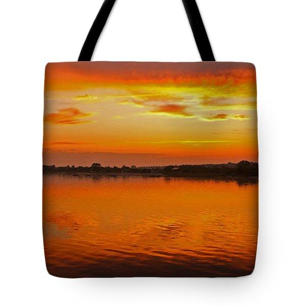 Tote Bag featuring the photograph Sundown Near Jastarnia At Hel Penisula In Poland by Julis Simo