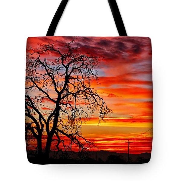 Sundown On Jeffcoat Tote Bag