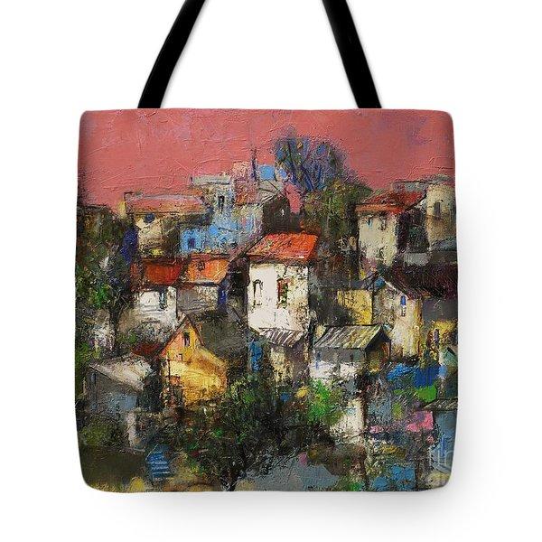 Sundown Touches The Neighborhood Tote Bag