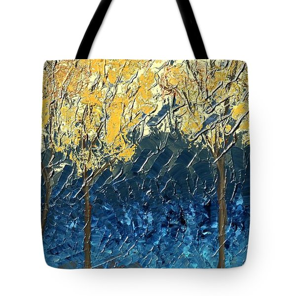 Sundrenched Trees Tote Bag